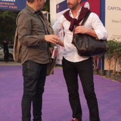 martin wuttke and dietmar jost  discussing the meet at agra fair