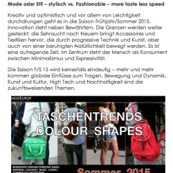 MODEUROP  FORECAST BAGS LEATHERGOODS SUMMER 2015 ILM FAIR