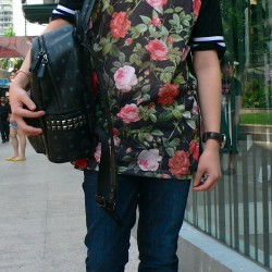 KL   dark roses already a huge trend in KL  as seen on bright fair  ©nextgurunow