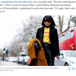 pict ©: Street style model and blogger Margaret Zhang. Photograph: Bertrand-Hillion Marie-Paola/ABACA Press France